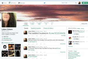 Twitter (writer's) account